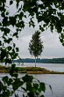 View of little island in river Daugava, Latvia.