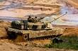 Tank in military training Saber Strike in Latvia.
