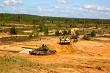 Tanks in military training Saber Strike in Latvia.