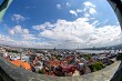 View of Riga city from above.