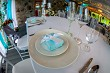Table setting for wedding party in restaurant