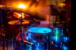 Drumkit in abstract multicolored light