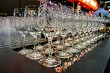 Wine glasses in reataurant at the Photokina Exhibition