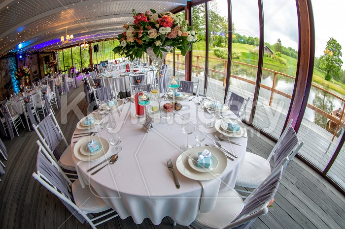 Tables setting for wedding party in restaurant Photo #61689