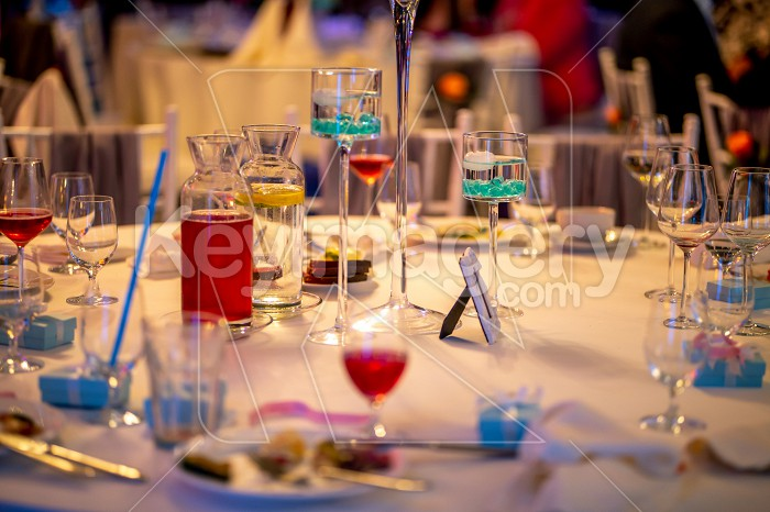 Tables setting for wedding party in restaurant Photo #61754