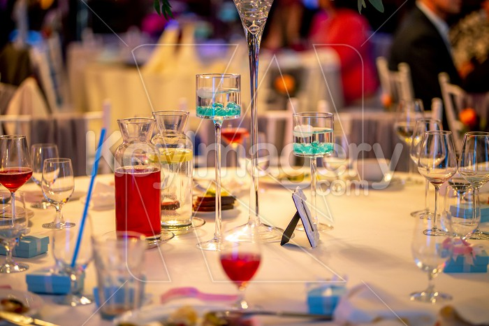 Tables setting for wedding party in restaurant Photo #61755