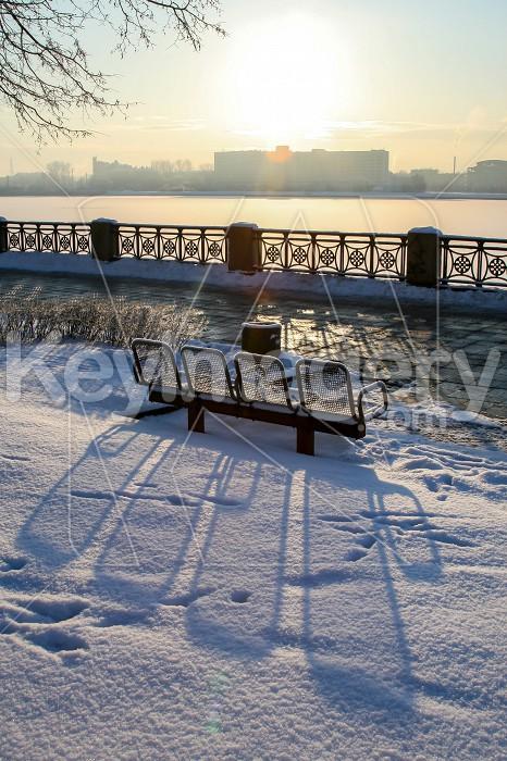 View of Riga in winter season. Photo #60477