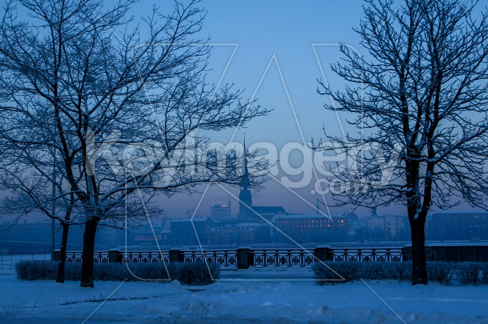View of Riga in winter time. Photo #60486