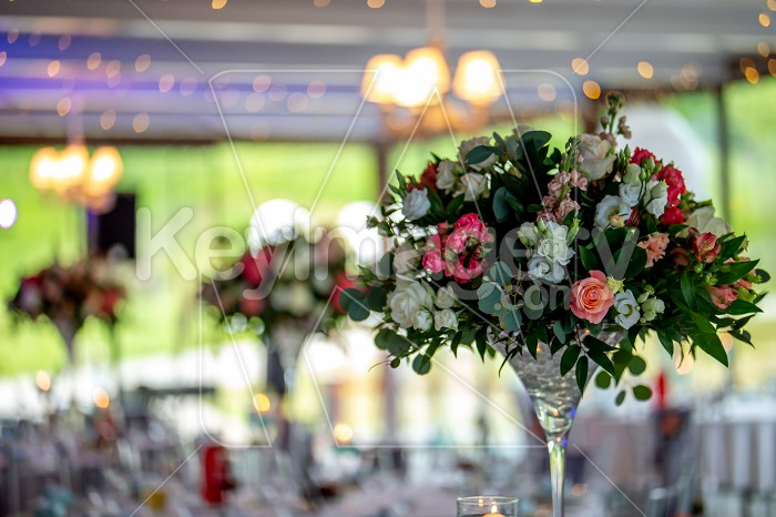 Wedding table decorated with flowers Photo #61655