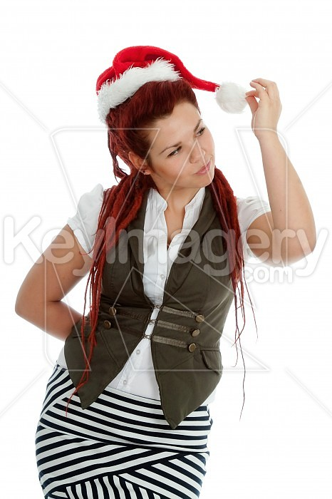 Young modern christmas girl isolated on white background. Photo #44934
