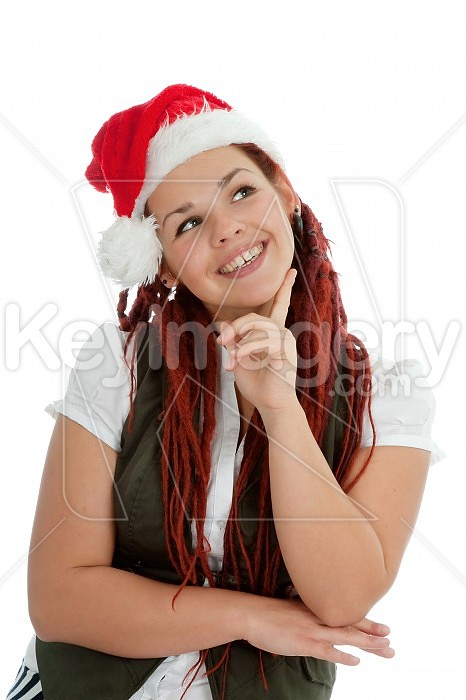 Young modern christmas girl isolated on white background. Photo #44938