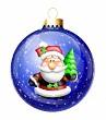 Whimsical Santa Christmas Ball Ornament
