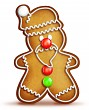 Cartoon Gingerbread Santa
