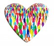 Group of people in a heart