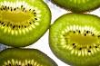 Ripe sliced fresh kiwi fruit