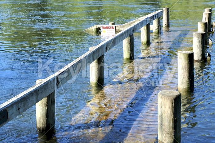 Submerged Wharf Photo #4483