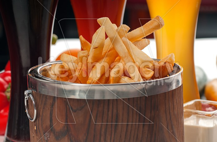 fresh french fries on a bucket Photo #50292