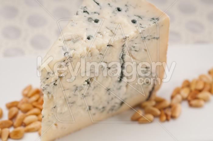 gorgonzola cheese fresh cut and pinenuts Photo #49465