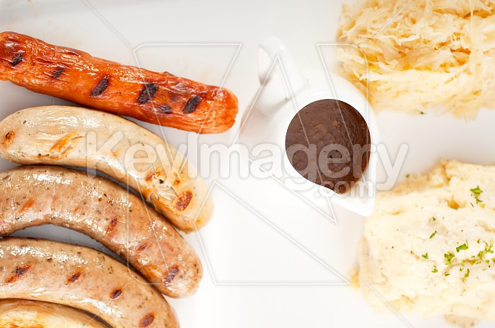 selection of all main type of german wurstel saussages Photo #50367