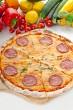 Italian original thin crust  pepperoni pizza