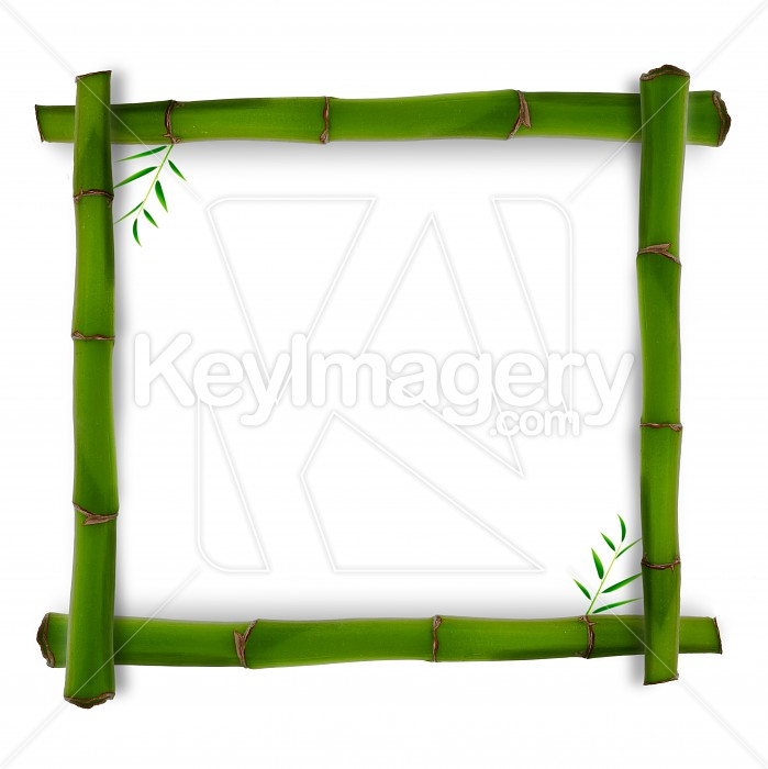 Bamboo shape with shadow over white backgrounds Photo #51389
