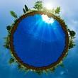 Green world, abstract environmental concept for your design