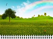 Countryside, abstract natural landscape for your design