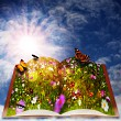 Fairy tale. Abstract fantasy backgrounds with magic book