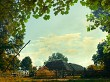 Autumn in the village. Natural rural landscape for your design