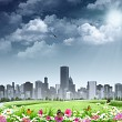 City as background. Abstract natural backgrounds