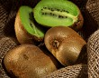 kiwi fruit on the burlap textile still life