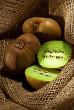 kiwi fruit on the burlap textile still life