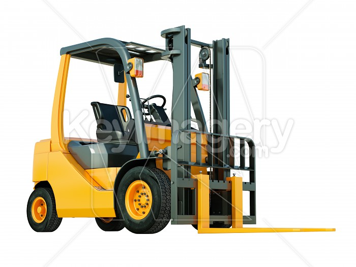 Forklift truck isolated Photo #51851