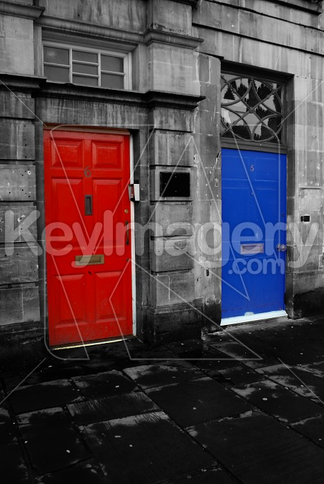 Red and Blue Door Photo #7587