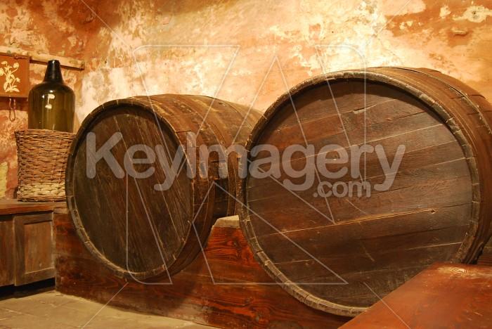 Old Barrel In Cellar Photo #6084