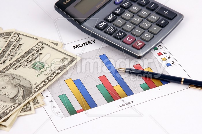 A diagram on financial report about currency Photo #7823