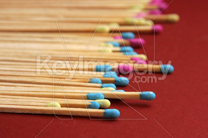 Close up of coloured matches Photo #7450