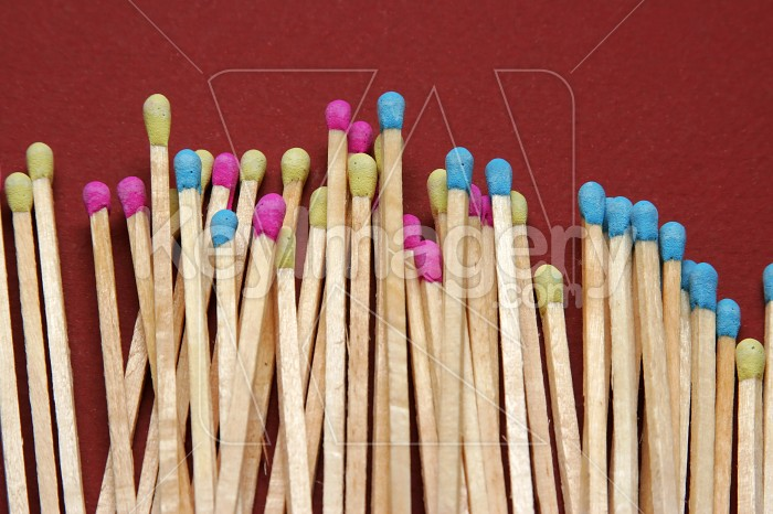 Close up of coloured matches Photo #7545