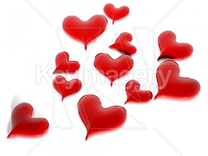 Glossy Valentines Hearts  Photo #7883