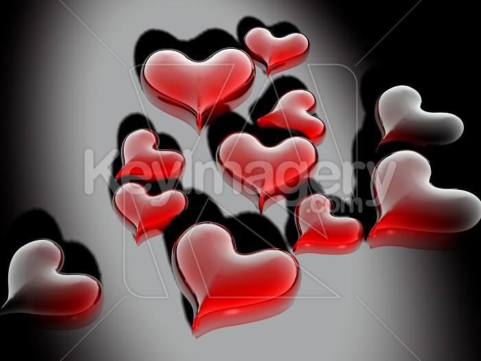 Glossy Valentines Hearts  Photo #7886