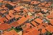 Old orange roof tiles