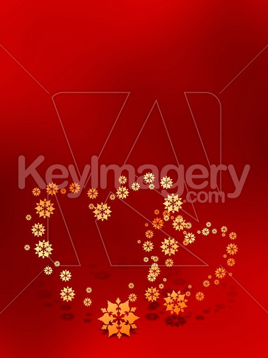 Two Valentines hearts on red background Photo #7882