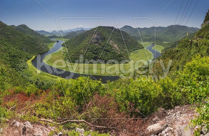 Crnojevica river bend in Montenegro Photo #59612