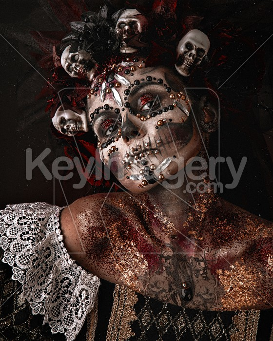 Halloween Girl in a Death Costume Photo #62126