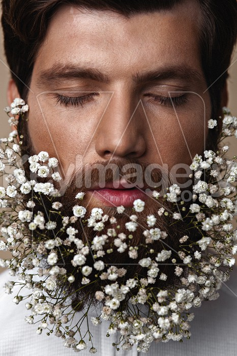 Men With Flowers In Their Beards Photo #61853