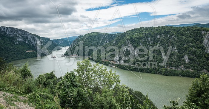 Panoramic view of the Danube River from Golo Brdo, Serbia Photo #59141