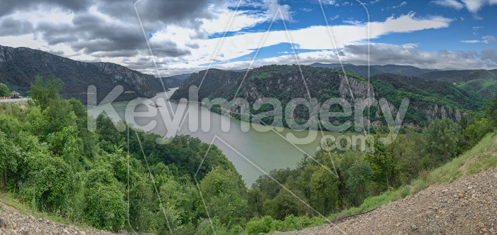 Panoramic view of the Danube River from Golo Brdo, Serbia Photo #59144