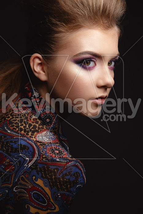 Portrait of beautiful young girl with glamorous evening makeup Photo #58172