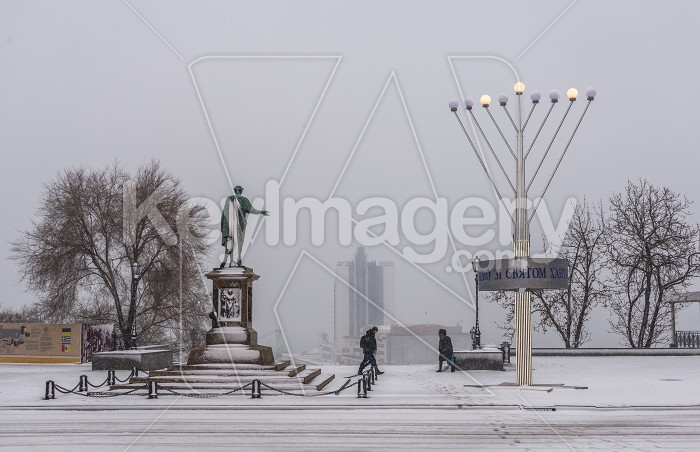 Snowy morning in Odessa, Ukraine Photo #59558