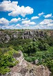 Landscape of the canyon Aktovo and Devil Valley in Ukraine.